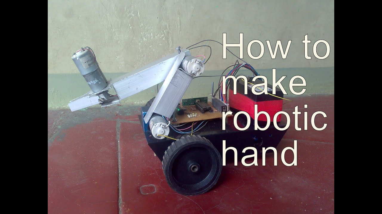 How to make robotic hand homemade project youtube solutioingenieria Choice Image