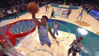 John Collins Throws Down Self Alley-Oop Dunk And 360 Degree  Lob In 2019 Rising Stars Challenge