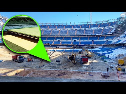 New Santiago Bernabeu Removable Pitch
