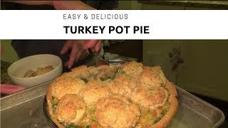 EASY Turkey Pot Pie + Red Lobster Biscuit Topping