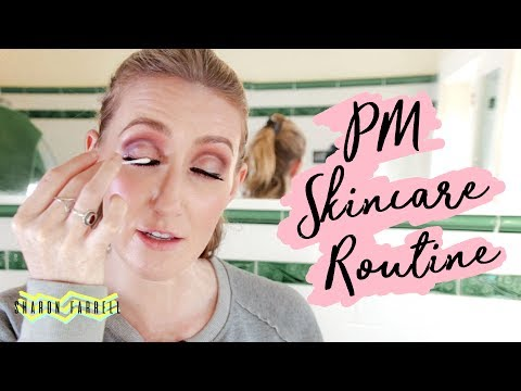 PM Skincare Routine  HEAVY MAKEUP DAY  Sharon Farrell