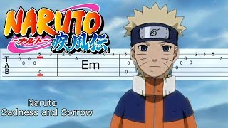 NARUTO OST - Sadness and Sorrow GUITAR TABS TUTORIAL | Наруто на гитаре табы | Музыка из Наруто