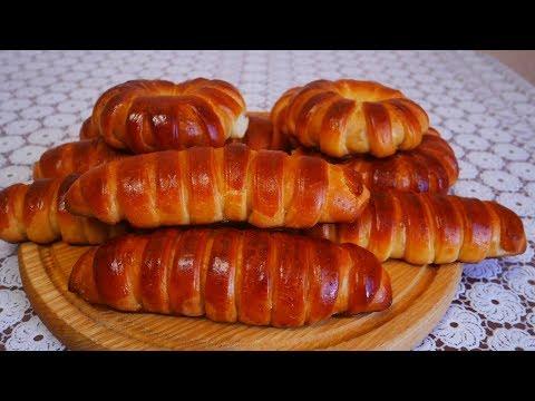 Булочки с вишней Простой рецепт дрожжевого теста без опары Вишневый конфитюр пирожки с вишней