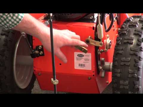 How to adjust drive lever on Ariens snowblower