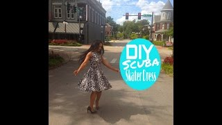 Diy: Scuba/neoprene Skater Dress