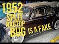 1952 VW Ragtop Beetle is a High Dollar FAKE Zwitter.
