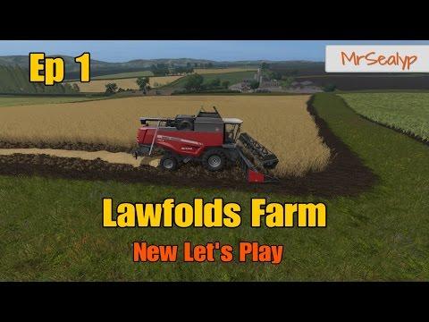 Let's Play Farming Simulator 17 PS4: Lawfolds Farm, Ep 1 (New Mod Map!)