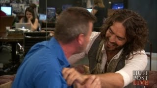 russell brand tries to lactate huffpost live host   hpl