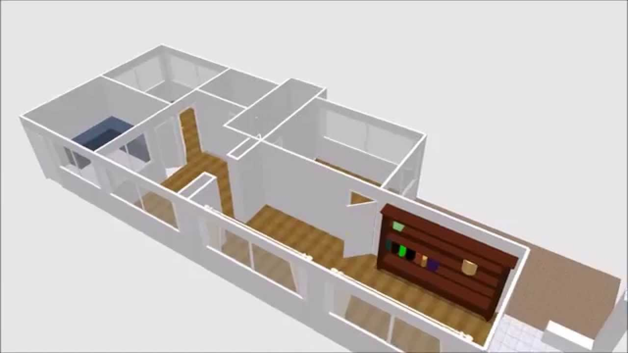 create home plan in 3d view by sweet home 3d youtube. Black Bedroom Furniture Sets. Home Design Ideas