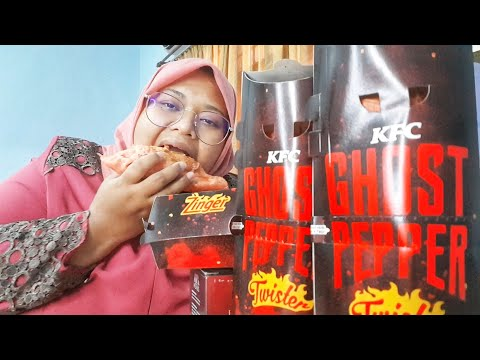 NEW!!! KFC GHOST PEPPER ???? #MUKBANG #notsponsored