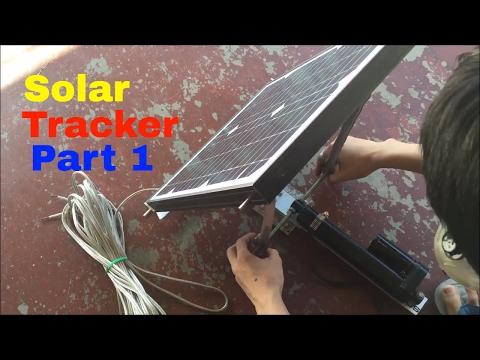 Junkyard Engineering: DIY Solar tracker (part 1) Vertical Axis