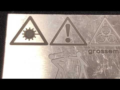 Лазерная гравировка алюминия. Как можно гравировать алюминий на лазере? Промышленная маркировка