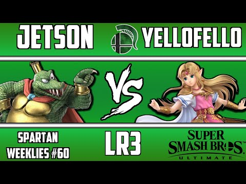 Spartan Weeklies #60, LR3: JETson(King K Rool) vs YelloFello(Zelda)
