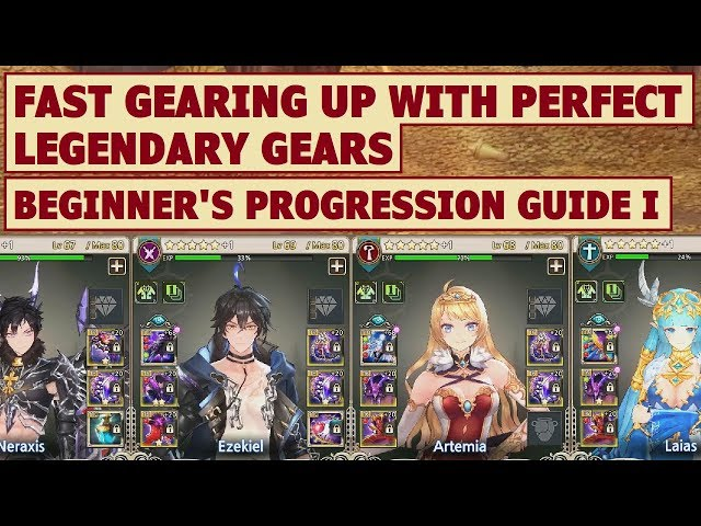 Kings Raid - Fast Gearing Up with Perfect Legendary Gears Guide + Beginners Progression Tips