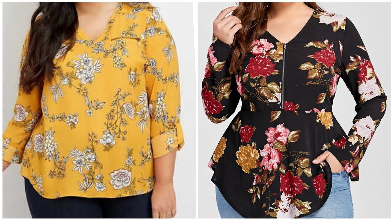 Super gorgeous and unique casual wear printed blouse blouse and tops designs 2021