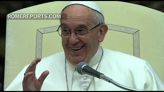 Pope jokes with pilgrims: In my homeland wishing a happy birthday ahead of time is bad luck