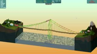 Poly Bridge Workshop Ep 10 [One Tower Suspension Bridge]