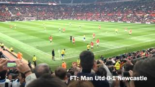newcastle fans away at manchester united 0 1 07 12 2013