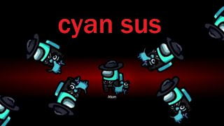 cyan sus | Among Us Impostor and Detective Moments