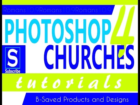 Photoshop Tutorial for Church Flyer with slogan