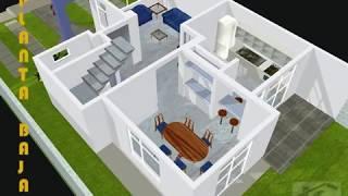 Repeat youtube video CASA 3D EJEMPLO FACHADA   trazzos_g@hotmail.com