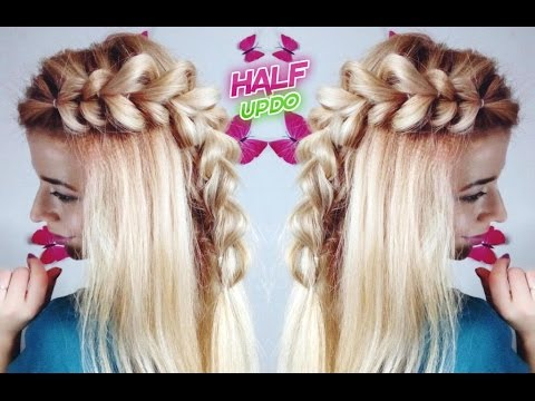 girls cute hairstyle easy braided half updo  awesome