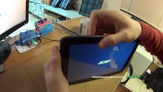 как сбросить Hard reset Acer iconia tab A200