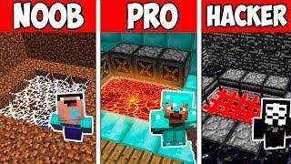 Minecraft NOOB vs PRO vs HACKER : SECRET HOUSE TRAP in Minecraft Animation