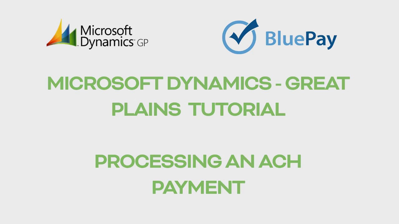 Great Plains Demo – ACH Transactions - YouTube