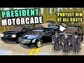 TRANSPORTING THE PRESIDENT! W/ SECRET SERVICE & TAKING OUT ATTACKERS! | FARMING SIMULATOR 2017