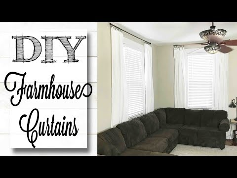 DIY Farmhouse Curtains | Easy & Cheap!