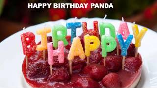 Panda  Cakes Pasteles - Happy Birthday