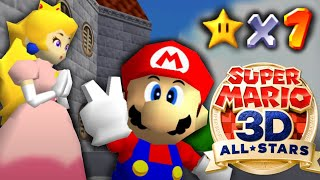 It's Possible to beat Mario 64 All-Stars with 1 Star, here's how.