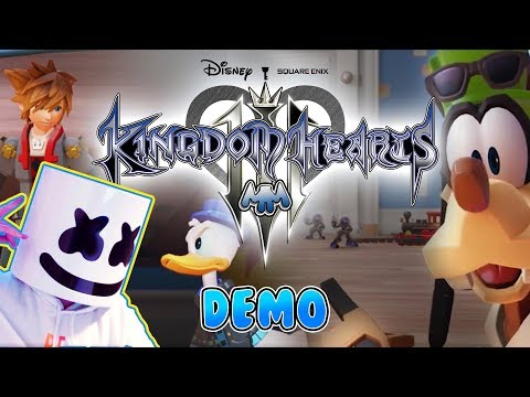 EXCLUSIVE!! KINGDOM HEARTS III (Official E3 Demo) x Gaming With Marshmello