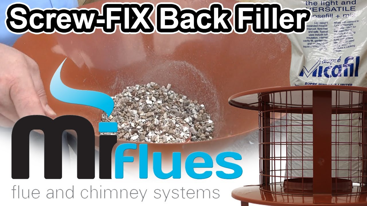 Screw Fix Back Filler Simple Chimney Set Up Using