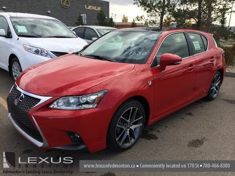 2015 lexus ct 200h hybrid red with black roof f sport navigation review alberta canada. Black Bedroom Furniture Sets. Home Design Ideas