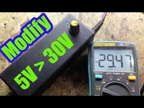 Modify A Laptop Power Supply 5V To 30V | How To Make 12v To 220v Inverter