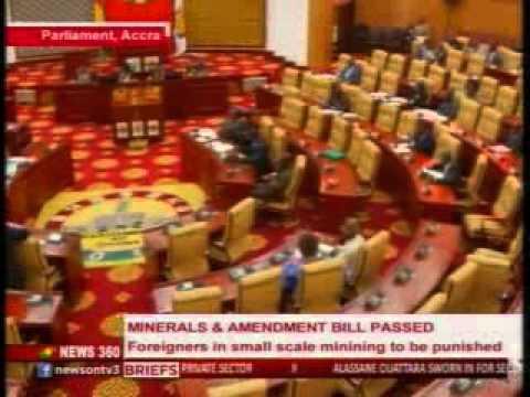 News360 - Parliament passes minerals amendment bill into law - 3/11/2015