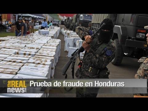 Prueba de fraude electoral en Honduras
