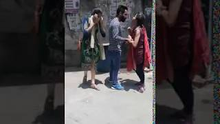 Girlfriend and boyfriend love fight