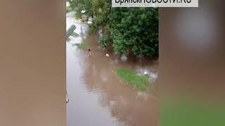 Ливень затопил Новозыбков, 30.06.2018 г.