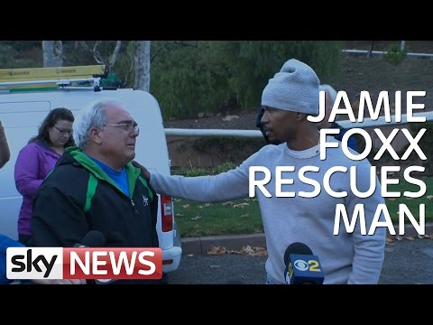 Jamie Foxx Saves Man From Burning Car Mp3