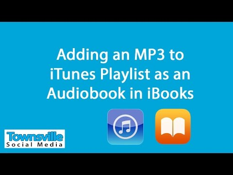 Adding MP3 to iTunes Audiobook playlist