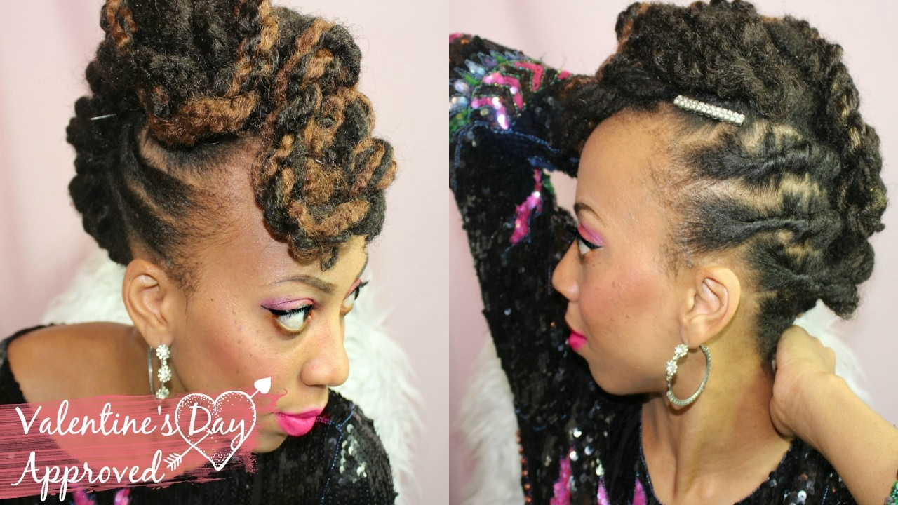 easy loc mohawk tutorial | loc extension style for short locs | 5