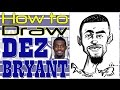 How To Draw A Quick Caricature Dez Bryant