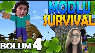 Minecraft : Zeynep'le Modlu Survival - Bölüm 4 - Mod Paketi ve Büyülü Yonca