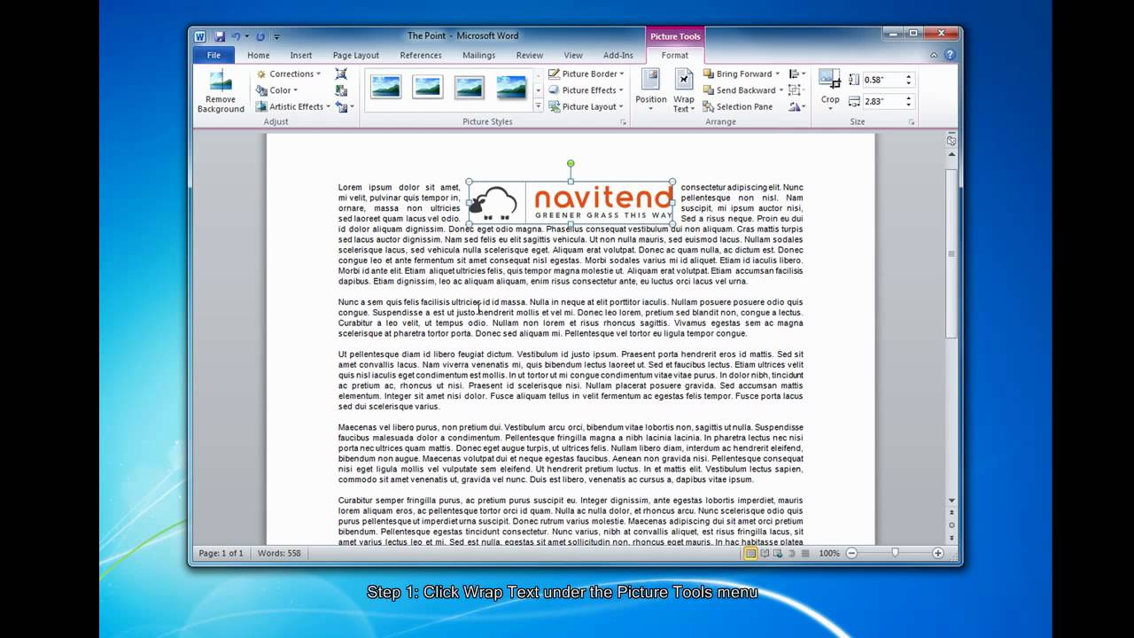 Aligning Images & Wrapping Text in Microsoft Word - YouTube