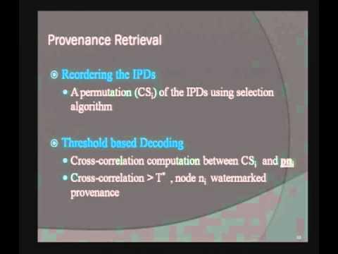 2012-01-18 CERIAS -  Secure Provenance Transmission for Data Streams