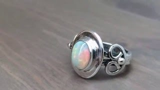 Celtic Ring Making - Opal and Silver Ring Fabrication by Hot Tor Studio