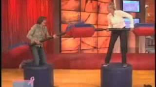 Ellen DeGeneres Show - Ellen Jousts with Allison Janney